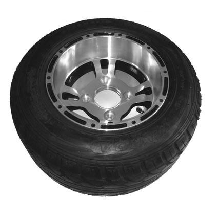 Tyres on ALU rim vl 18 X 8.00-10 Shineray 250 STIXE
