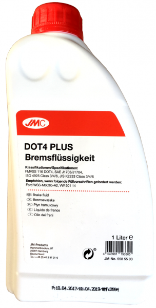 JMC Bremsflüssigkeit DOT4 PLUS 1 Liter