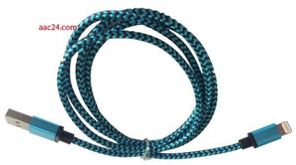 Edles Aluminiummetall Ladekabel blau für apple