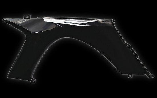 Front fender left black Shineray 250 STIXE ST-9E
