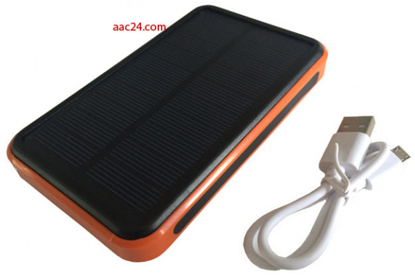 Mobiles Ladegerät Solar + USB 30000 mAh