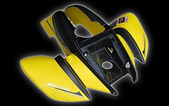 Verkleidung vorne schwarz gelb Bashan 200