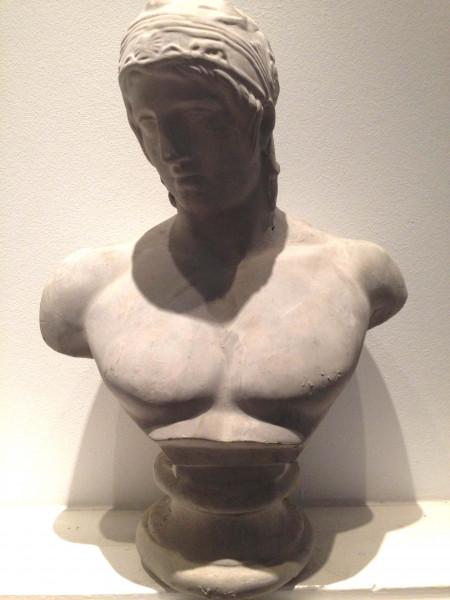 Adonis sculpture made of plaster