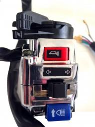 Schalterkasten verchromt links Shineray 250 - 300