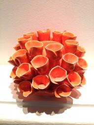 Kerzenständer Orange klein Keramik