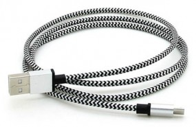 Edles Aluminiummetall Mikro USB Daten-Ladekabel weiß