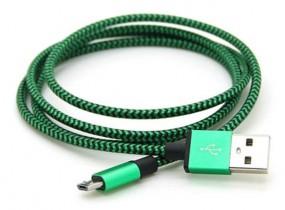 Edles Aluminiummetall Mikro USB Daten-Ladekabel grün