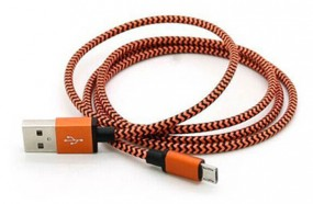 Edles Aluminiummetall Mikro USB Daten-Ladekabel orange