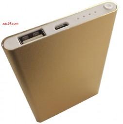 Mobiles Ladegerät gold 6000 mAh